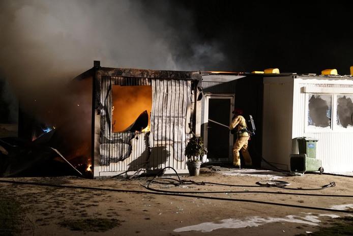 Brand bij FietsCrossVereniging Veldhoven.