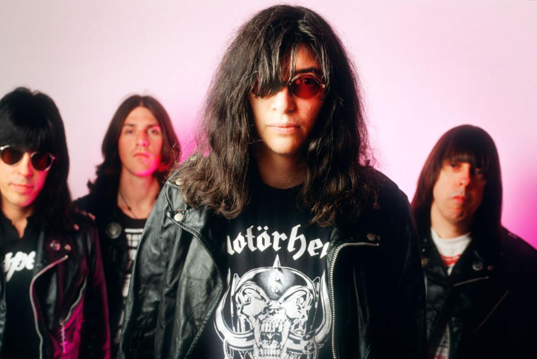 The Ramones, Marky Ramone, C.J. Ramone, Joey Ramone, Johnny Ramone, Luna Theater, Brussels, Belgium, 12/06/1994 Beeld Gie Knaeps / Getty Images