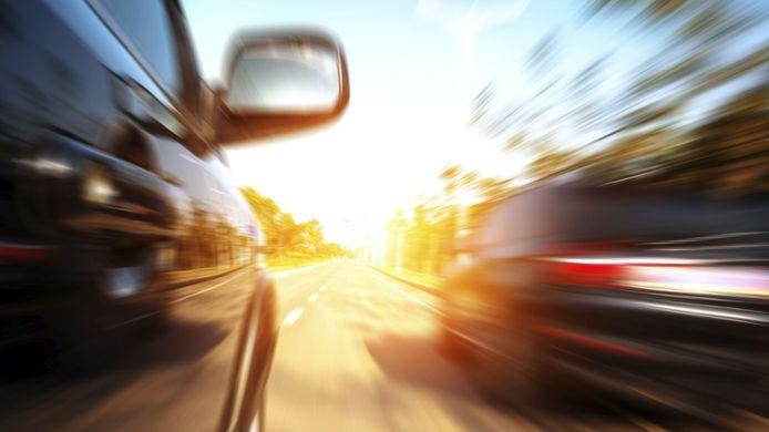 stockadr auto snelheid racen straatrace inhalen