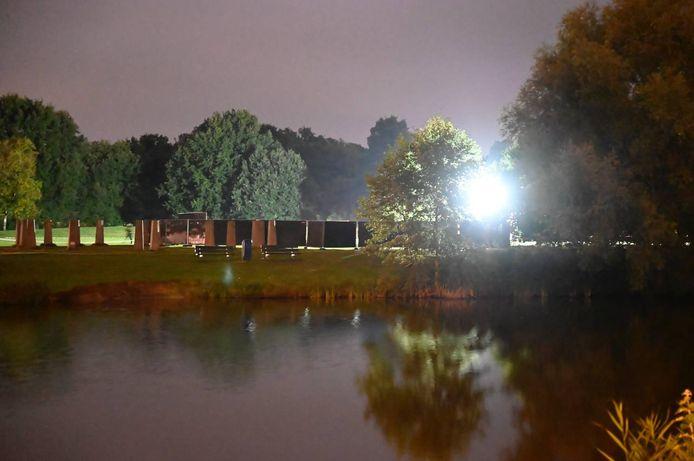 Het afgesloten Schelfhorstpark