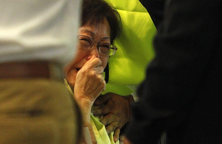 Ook op de luchthaven van Kuala Lumpur troepten gisteren nabestaanden van de slachtoffers samen.