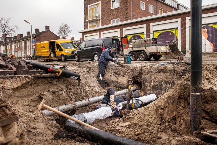 Aanleg van een warmtenet in Breda.