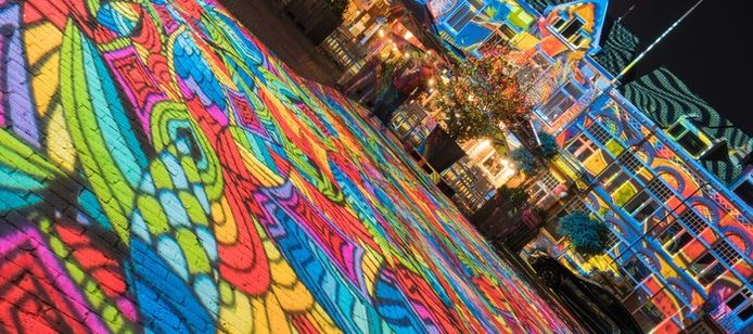 Wilhelminaplein: Glow vanuit een ander perspectief (lezersfoto).