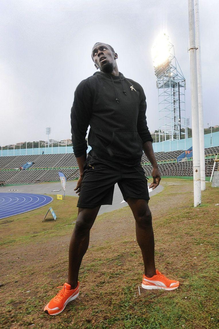 Usain Bolt in april vorig jaar op Jamaica. Volgens het dopinginstituut WADA is er de afgelopen jaren nauwelijks gecontroleerd op het eiland. Beeld Guus Dubbelman / de Volkskrant