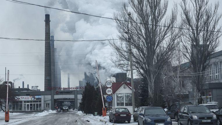 Donetsk bekomt na zware gevechten tussen rebellen en het leger. Beeld Photo News
