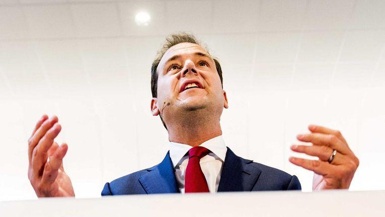 Vicepremier Lodewijk Asscher maakt bekend dat hij lijsttrekker van de PvdA wil worden Beeld ANP