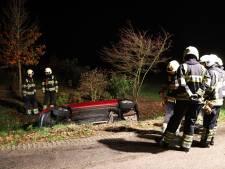 Bestuurder slaat op de vlucht na crash in sloot in buitengebied Schijndel