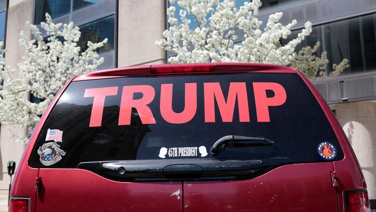 Auto in Michigan, een staat die altijd Democratisch stemde, maar nu voor Donald Trump heeft gekozen, 24 april. Beeld reuters