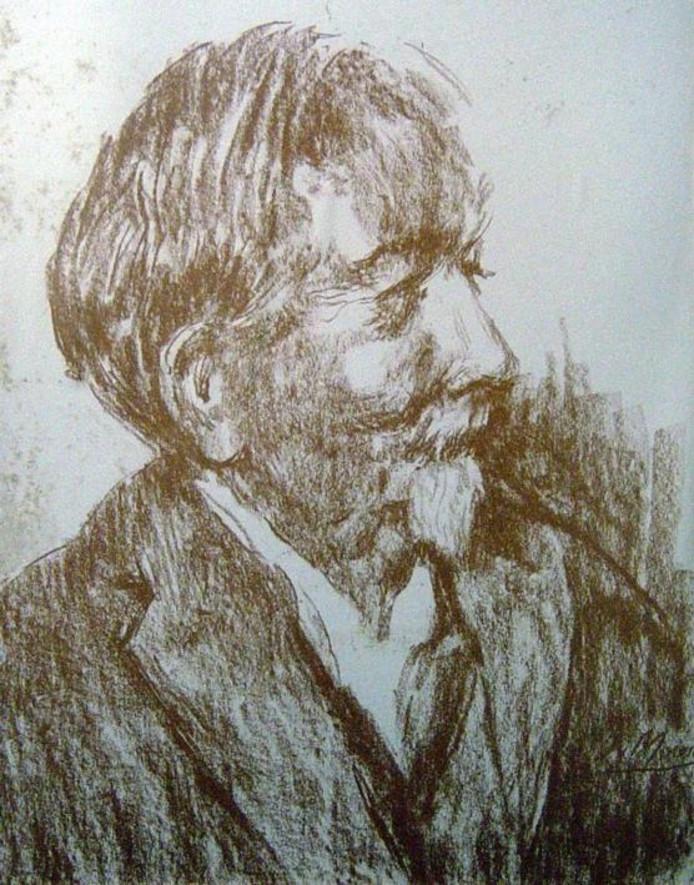 Zelfportret van Van Mourik, gemaakt twee weken voor zijn dood.