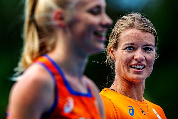 Dafne Schippers traint op Papendal.