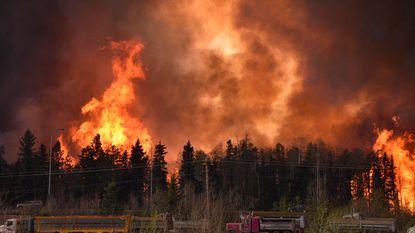 Tienduizenden Canadezen op de vlucht voor bosbrand