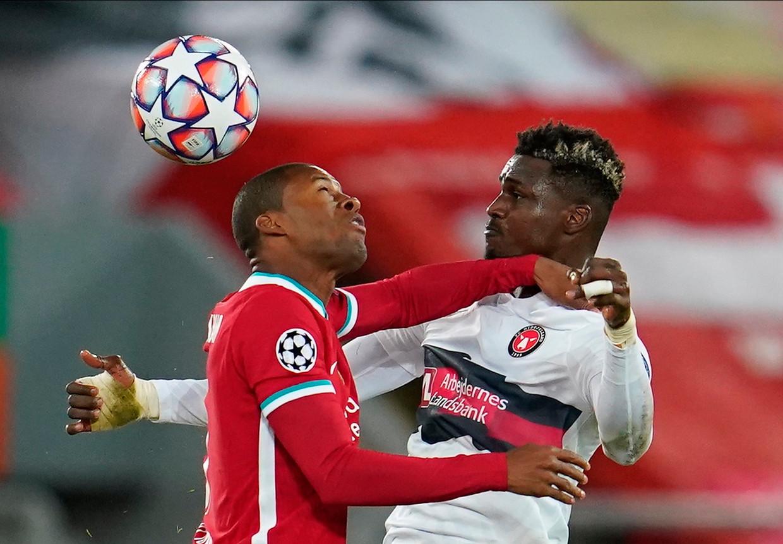 Midtjylland verloor het duel tegen Liverpool met 2-0, en verloor ook tegen Atlanta Bergamo. Beeld EPA