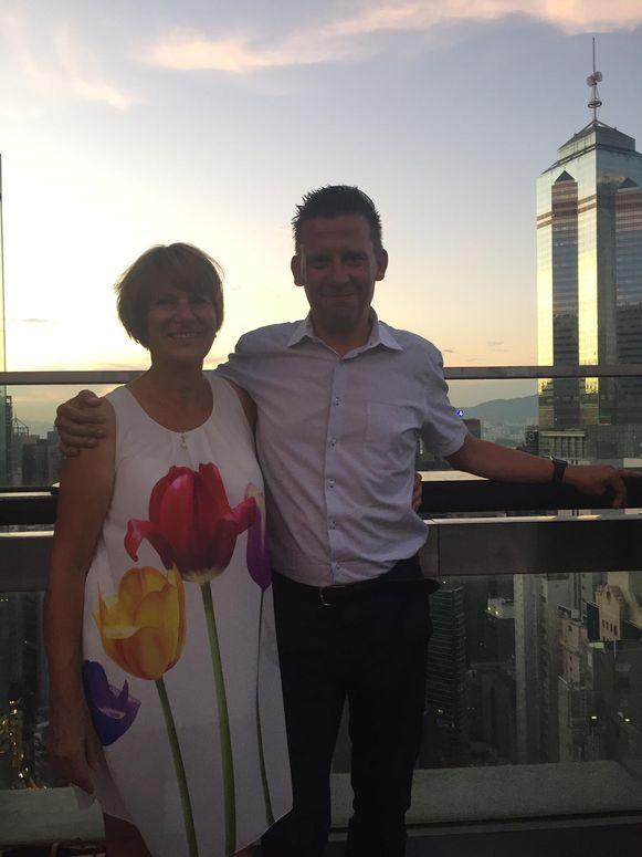 Didier Verhaegen en zijn vriendin Saskia.