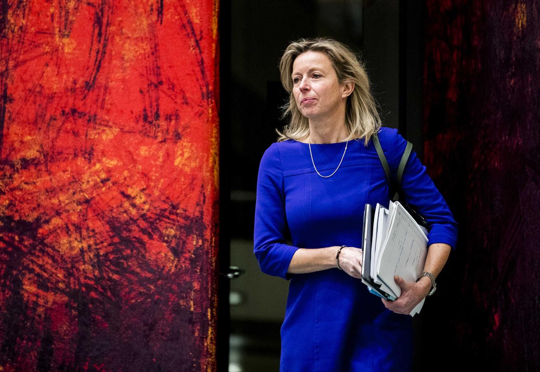 Kajsa Ollongren, minister van Binnenlandse Zaken, eerder deze week tijdens het debat over de intrekking van de Wet raadgevend referendum.