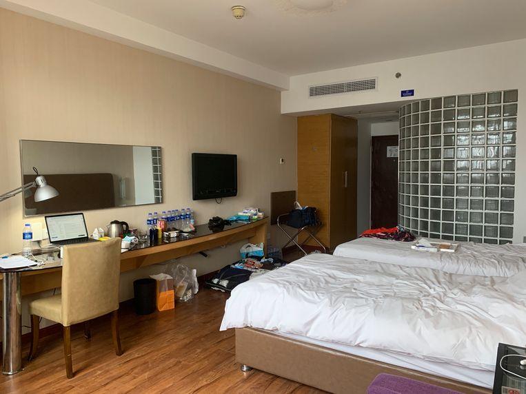 De hotelkamer. Beeld Eefje Rammeloo