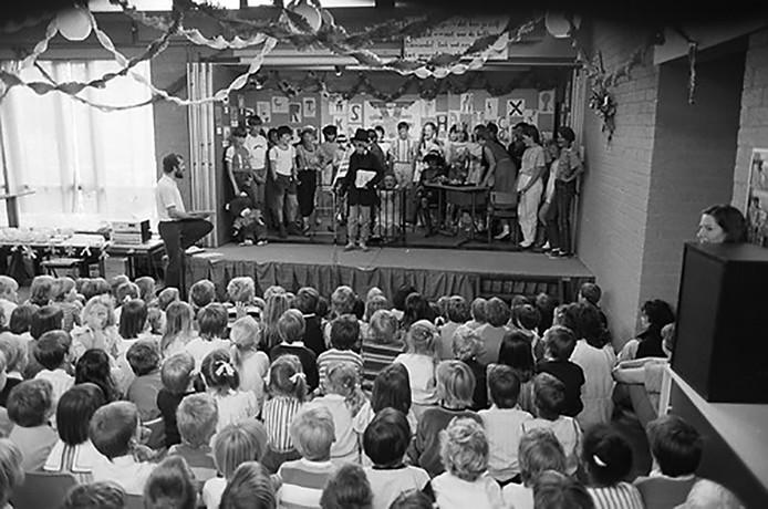 Musical uitvoering op De Saffier in Roosendaal in 1985