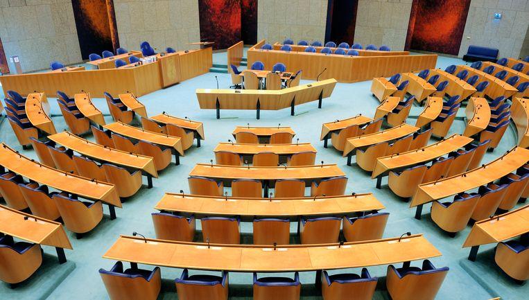 Plenaire zaal van de Tweede Kamer. Beeld Hollandse Hoogte /  ANP XTRA