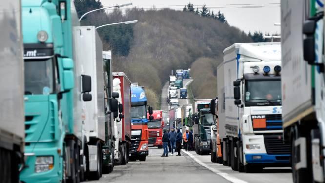 Boze truckers blokkeren luchthaven van Luik