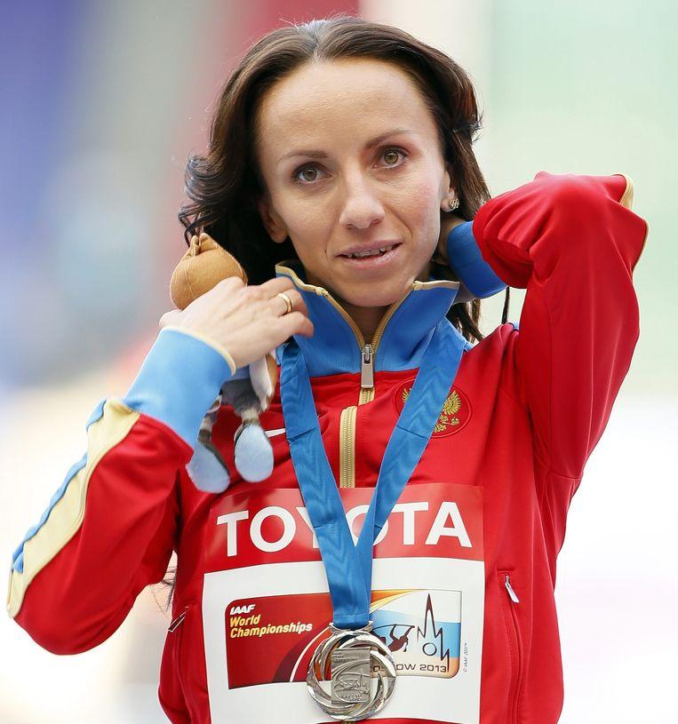 Mariya Savinova. Beeld epa