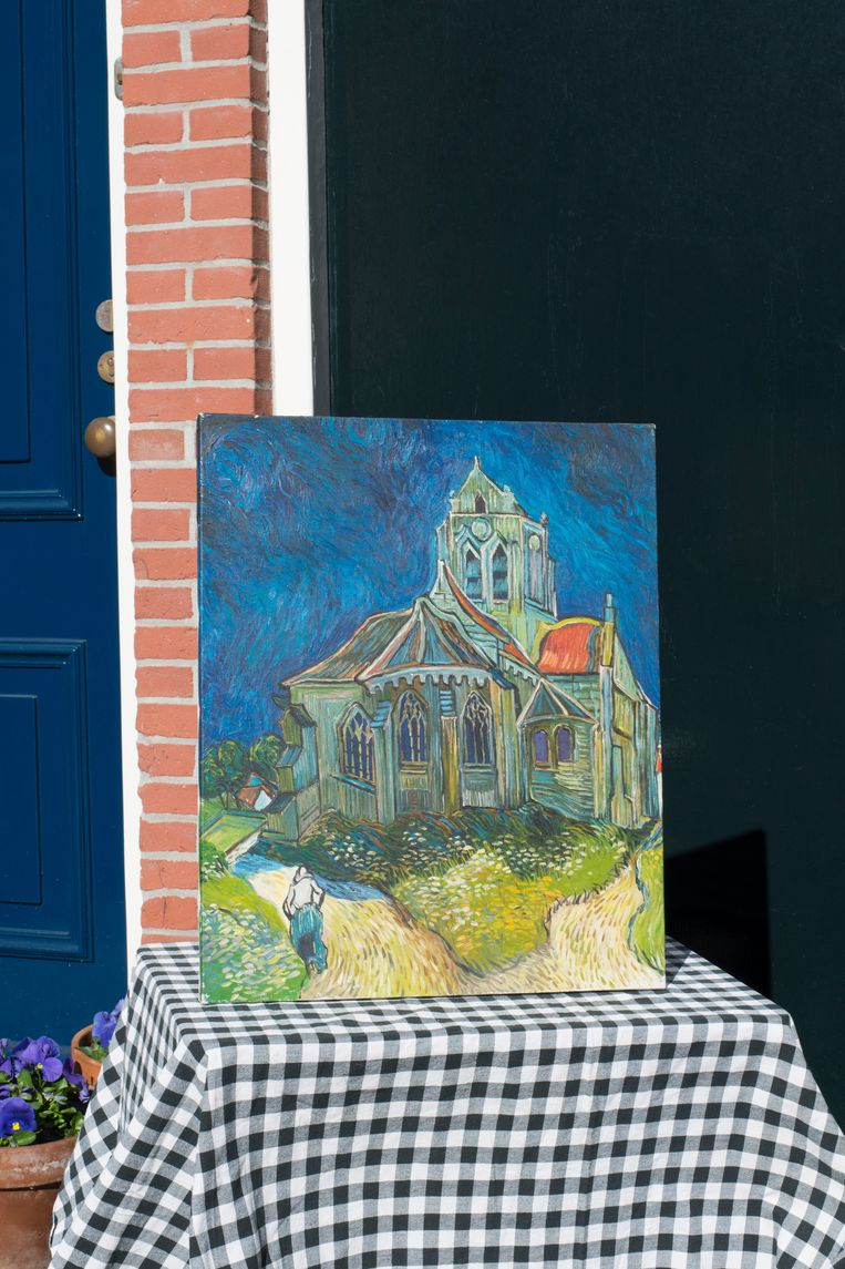 Aan de straatstenen niet kwijt: schilderij (vraagprijs: 2 euro). Beeld Annabel Miedema
