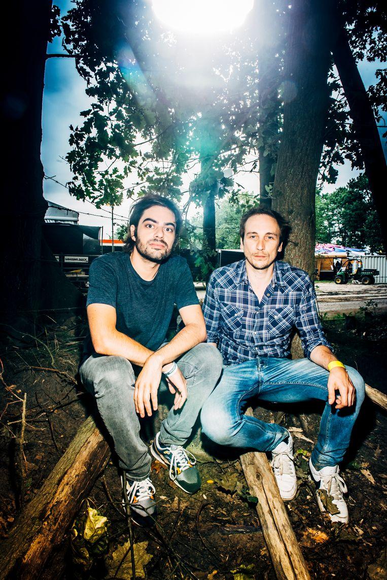 Nadiem Shah en Michael Midnight.  Beeld Stefaan Temmerman