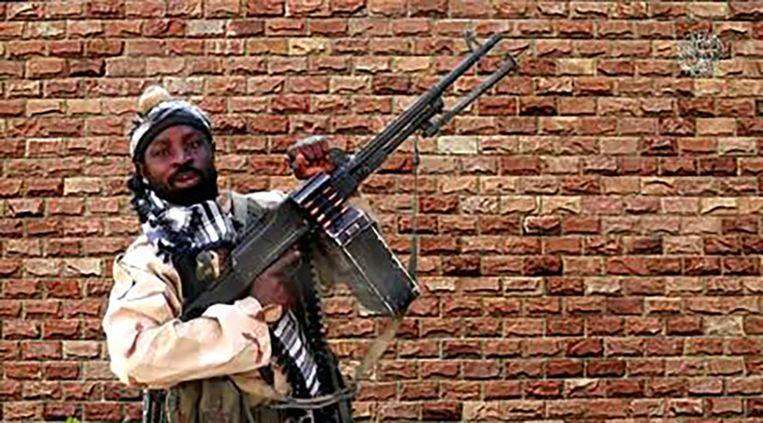 Abubakar Shekau in een video uit 2018. Beeld AFP