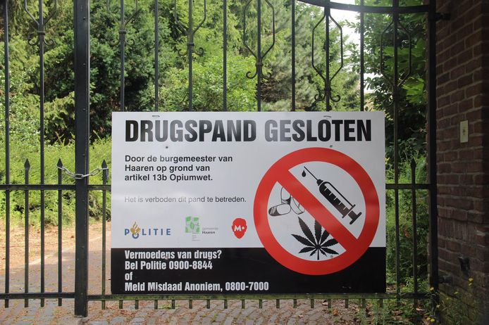 Drugspand Esch zes maanden op slot
