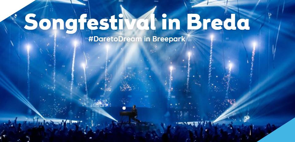 Breepark in Breda gelooft wel in de kansen om het Eurovisie Songfestival 2020 te organiseren, getuige de eigen website.