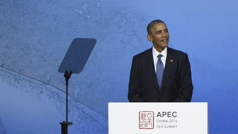 De Amerikaanse president Obama. Beeld reuters