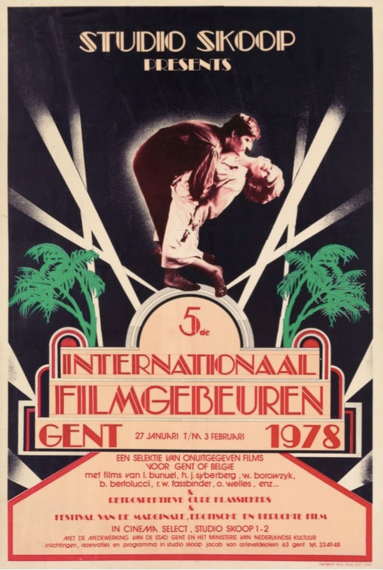 Affiche voor het 5de Internationaal Filmgebeuren. Beeld Paya Germonprez