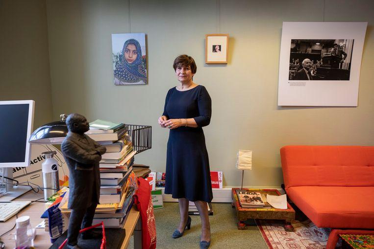 Lilianne Ploumen heeft een lange staat van dienst in de PvdA. Zij was van 2007 tot 2011 partijvoorzitter, vanaf 2012 minister van Buitenlandse handel en Ontwikkelingssamenwerking en sinds 2017 zit Ploumen in de Tweede Kamer Beeld Werry Crone