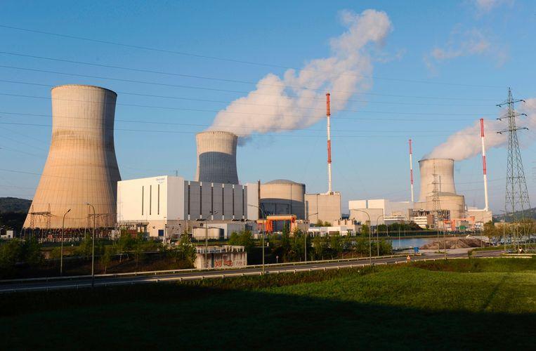 De kerncentrale van Tihange (Hoei). Beeld AFP