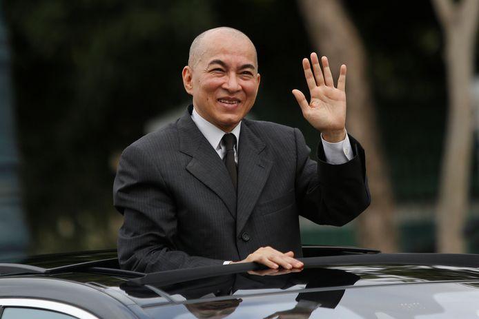 Koning Norodom Sihamoni van Cambodja.