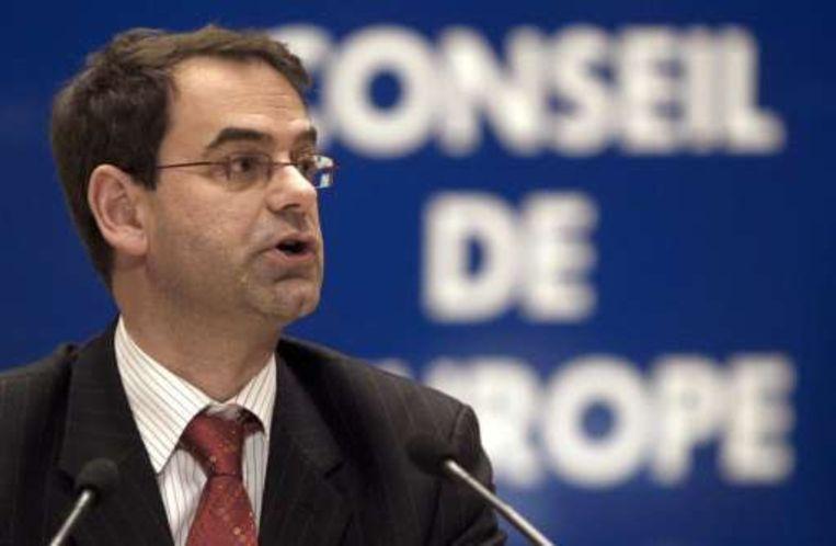 Minister Marino Keulen liet zich in Straatsburg afvaardigen door partijgenoot Fons Borginon. Beeld UNKNOWN