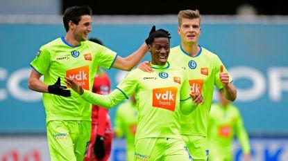 VIDEO. AA Gent doet wat het moet doen tegen Zulte Waregem en blijft in de race om play-off 1