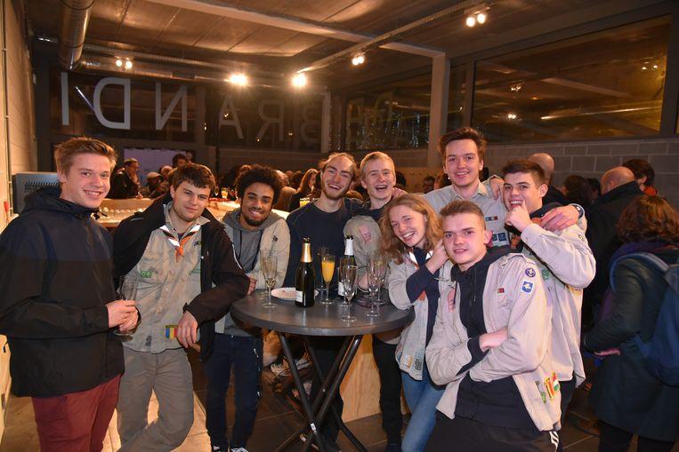 De jongeren gingen uit de bol tijdens de opening van De Branding.