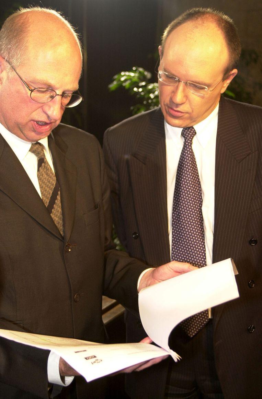 Frank Beke en Sas Van Rouveroij in 2000