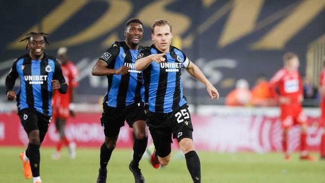 Ruud Vormer is terug de oude: aanvoerder Club Brugge  laat de netten twee keer trillen tegen KV Kortrijk, blauw-zwart is voorlopig alleen leider
