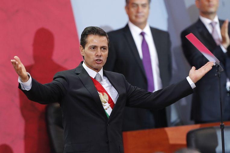 De Mexicaanse president Enrique Peña Nieto. Beeld epa