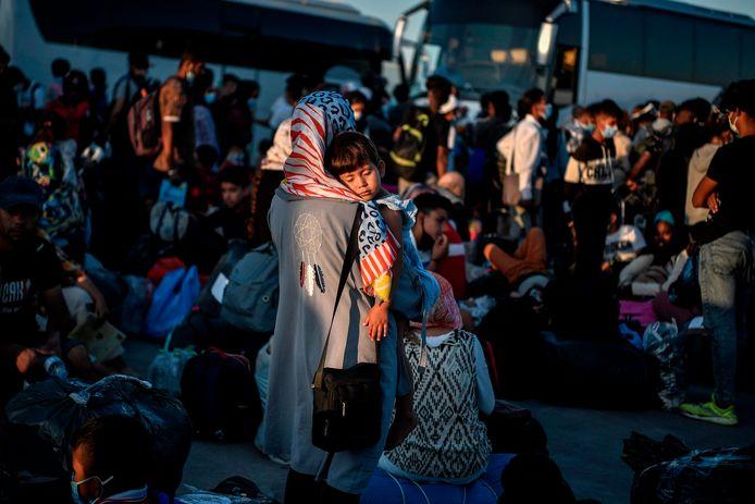 Vluchtelingen die aangekomen zijn op de Griekse eilanden (archieffoto).