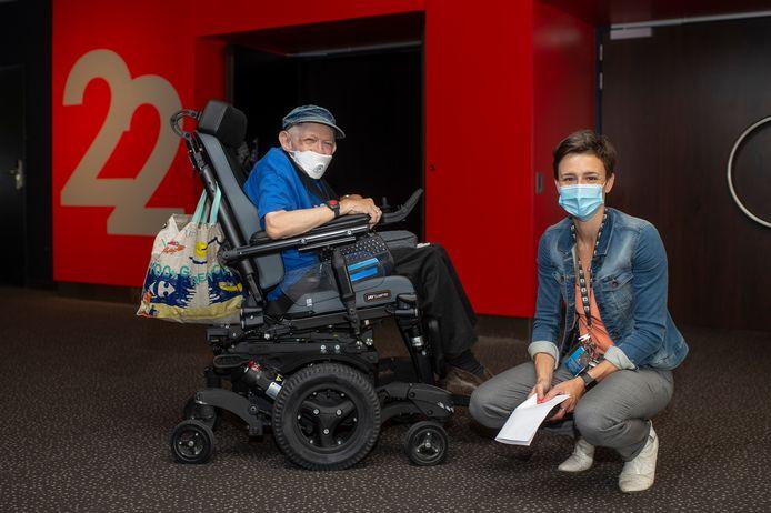 Vaste klant Jan en Theatre Manager Els De Brabander in Kinepolis Antwerpen.
