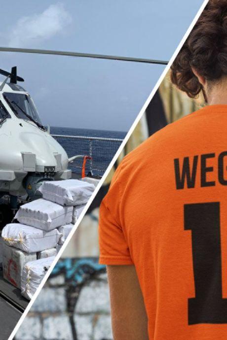 Nieuws gemist? Militair schiet vanuit heli motor drugsboot aan flarden en scoort Wegdorst? 't bezopen EK-shirt