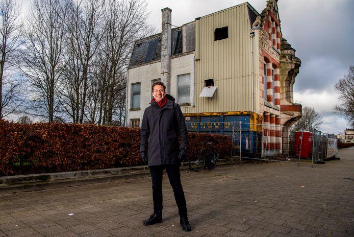Vincent Taapken bij Villa van Waning aan de Nijverheidstraat op Rotterdam-Zuid.