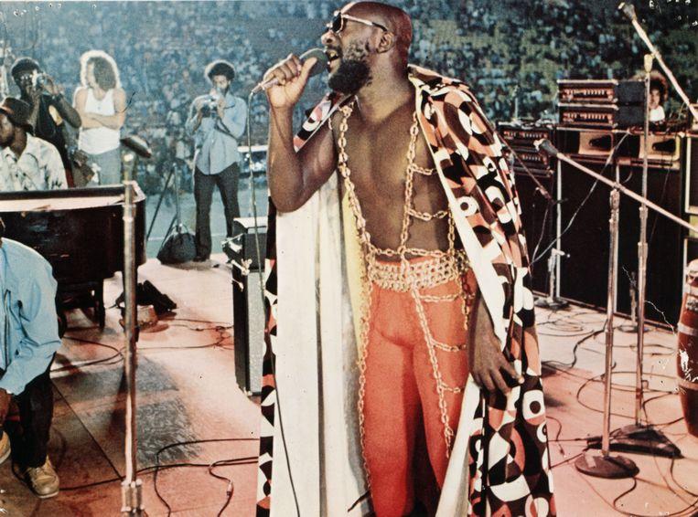 Isaac Hayes op het Wattstax-festival in 1972.Een icoon is geboren.  Beeld Alamy Stock Photo