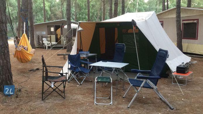 Een van de typische tenten van De Waard, groot geworden vanuit Uden. Het bedrijf is overgenomen door de Sunshine Group uit Doetinchem.