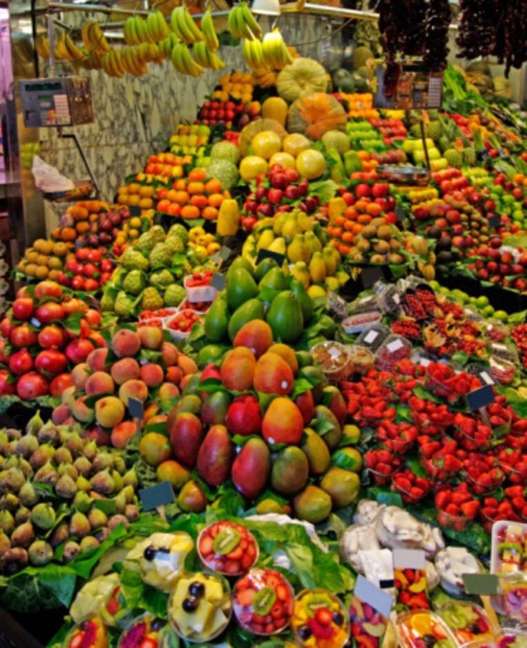 Mercat de la Boquería, een versmarkt met wereldfaam Beeld UNKNOWN