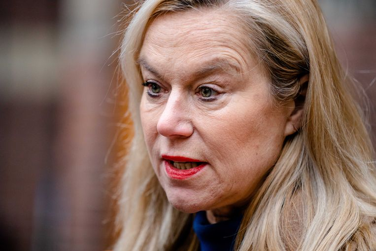 Minister Sigrid Kaag voor Buitenlandse Handel en Ontwikkelingssamenwerking (D66) voor de ministerraad op het Binnenhof. De ministers komen bijeen om zich te beraadslagen over de politieke gevolgen van de toeslagenaffaire Beeld ANP