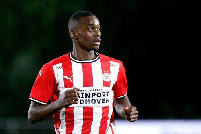 Emmanuel Matuta heeft zich bij Jong PSV dit seizoen goed ontwikkeld.