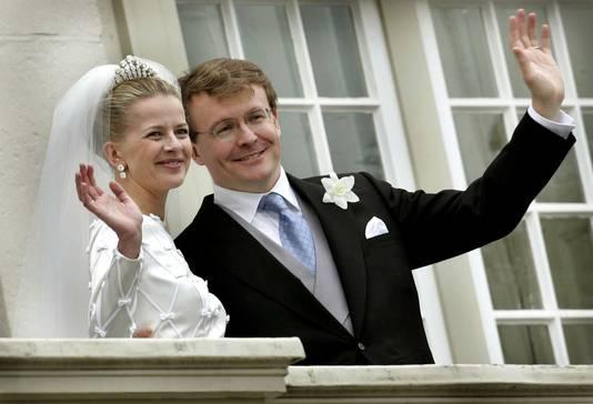 Mabel en Friso tijdens hun huwelijk in 2004