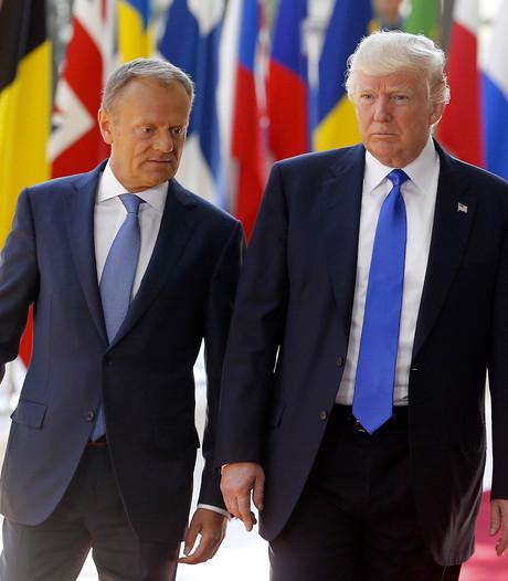 Sfeer ontmoeting Trump met EU-leiders is koeltjes